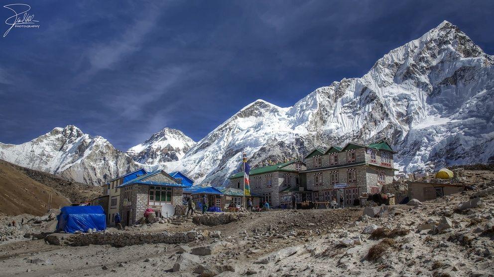 The village of Gorak Shep.