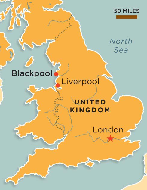 Blackpool England map