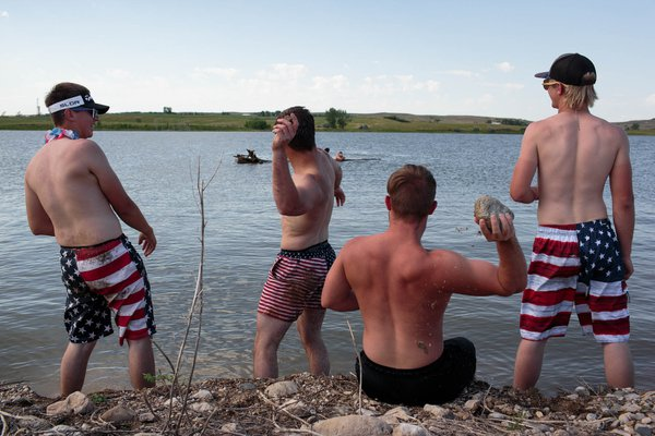 Youth from Watford, North Dakota celebrate the 4th of July. thumbnail