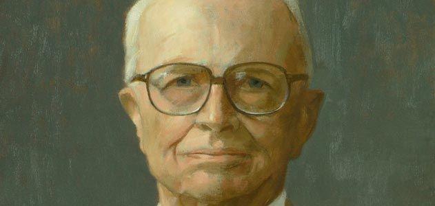 Thomas Buechner portrait of Bill Zinsser