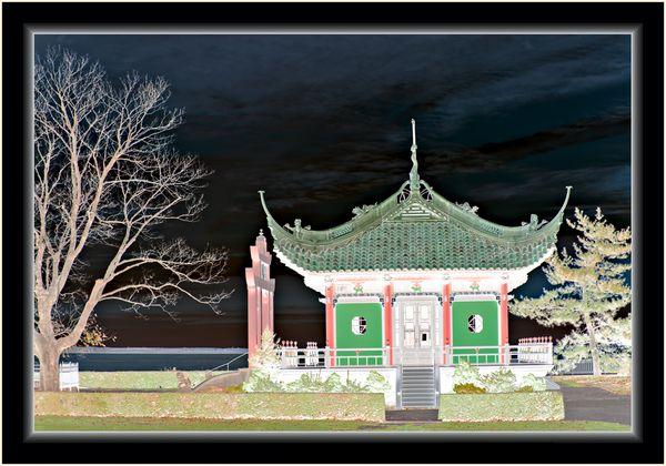 Oriental Gazebo Cross Stitch thumbnail