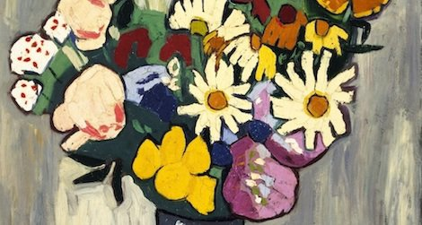 These flowers are always in bloom at the American Art Museum.
