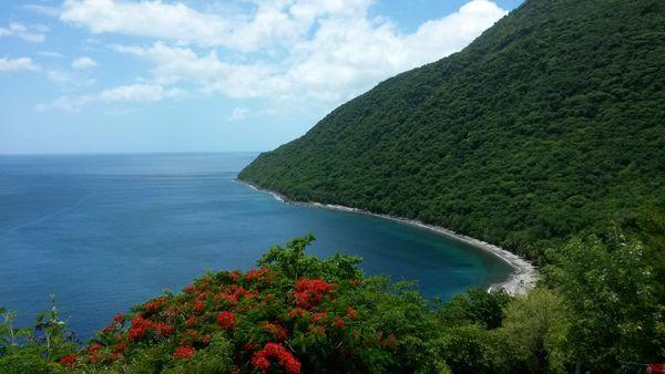 Anse L'Ivrogne beach view in St Lucia thumbnail