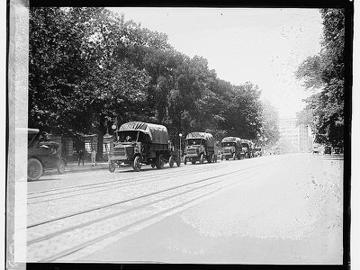 The motor convoy departed D.C. on July 7, 1919.