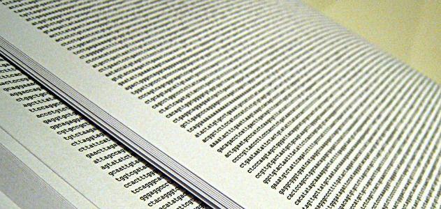 A human genome, printed