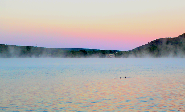 Foggy sunrise over Deep Creek Lake thumbnail