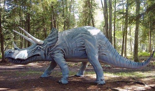 A Triceratops roams Michigan