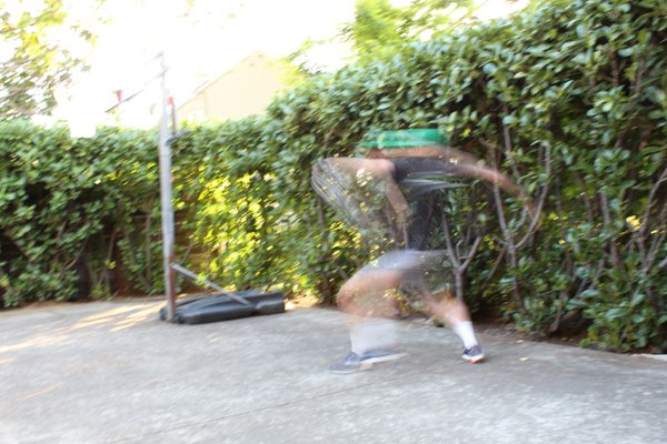Slow-shutter speed capture of a throw thumbnail