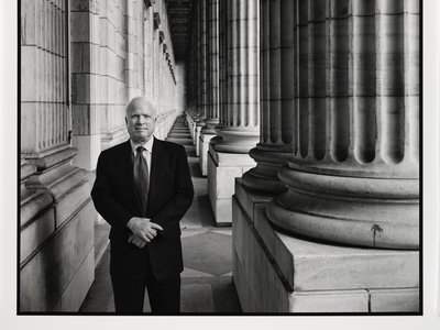 The portrait John S. McCain III by Steve Pyke, 2005, went of view today at the National Portrait Gallery in memory of the U.S. Senator who died August 25.