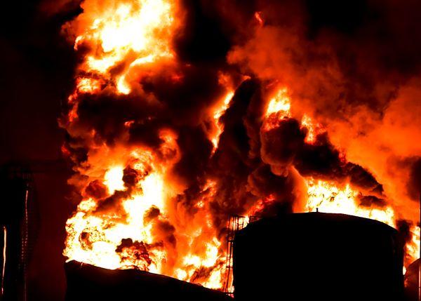 REFINERY FIRE IN SAN JUAN PUERTO RICO. thumbnail