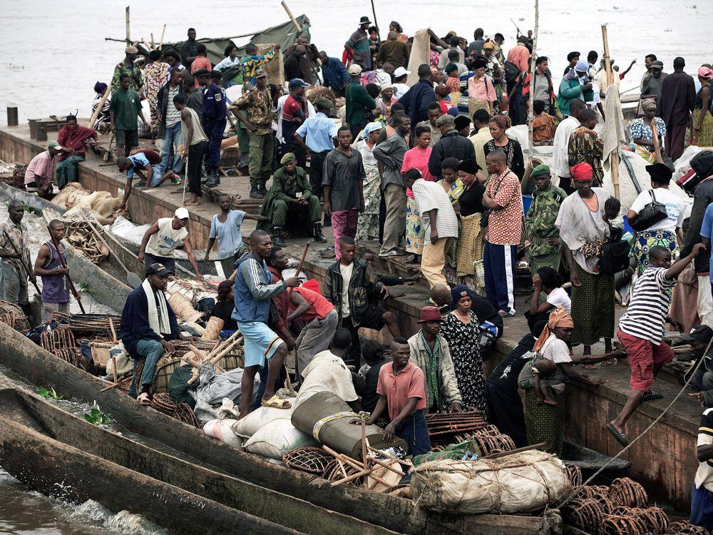 boat on Congo