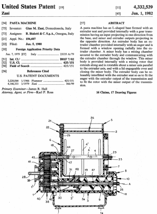 The Patents Behind Pasta Shapes
