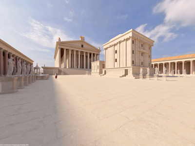 A virtual reconstruction featured in Baalbek Reborn