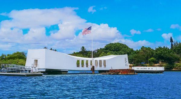 USS Arizona Monument at Pearl Harbor thumbnail