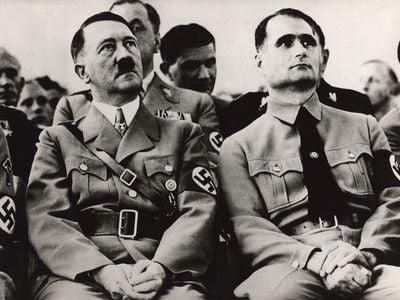 Adolf Hitler and his deputy Rudolf Hess
