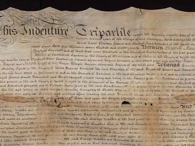The document, which had been stored in a folded shape for more than 200 years, is composed of parchment pages that offer new insight into the Smithsonian founder's family history.