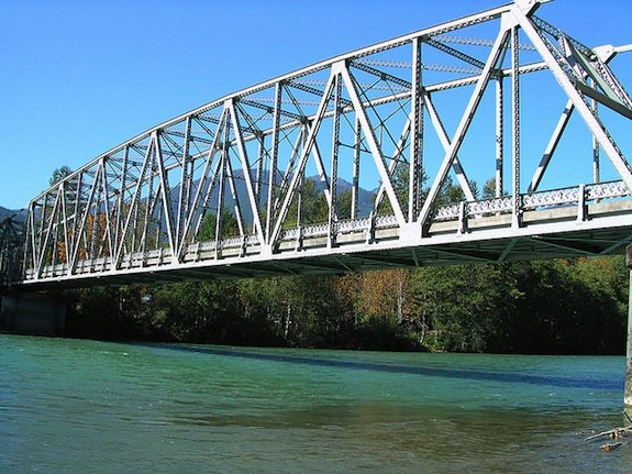 A bridge over another part of the Skagitt River