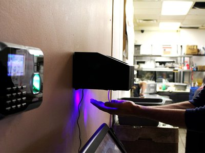 The hand dryer-sized device can detect E. coli, salmonella, norovirus, hepatitis A, and listeria.