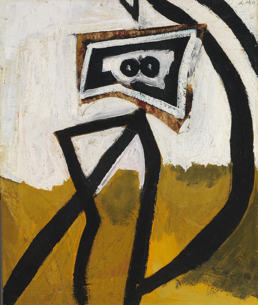 A painting of a figure