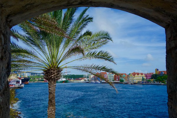 View of the city Willemstad on Curacao thumbnail