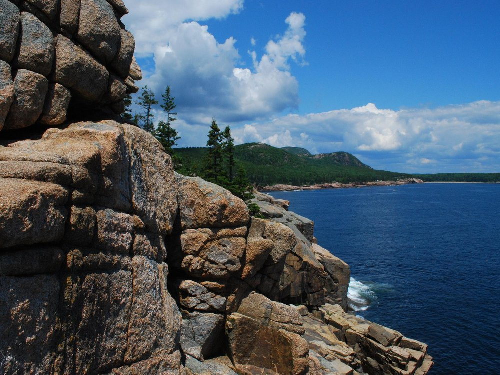 A clear day at Acadia National Park in Maine.