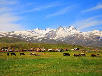 Mount Aragats in Aragatsotn, Armenia.