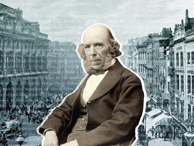 """Herbert Spencer introduced the phrase """"survival of the fittest"""" in his 1864 book, Principles of Biology."""