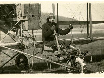 """Ruth Law, (circa 1915, at the controls of her Curtiss Model D Headless biplane) once said that wearing a seatbelt """"was a bit cowardly."""""""