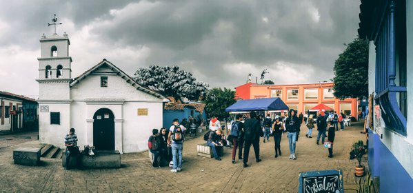 A typical day in historic neighborhood in Bogota thumbnail
