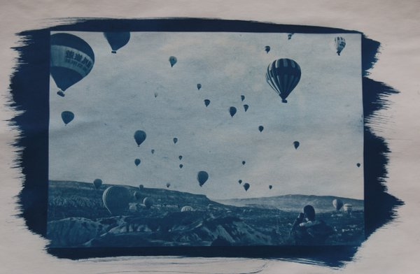 Balloons flights over Cappadocia, during sunrise in Turkey thumbnail