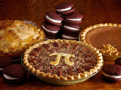 Pi Day pies.