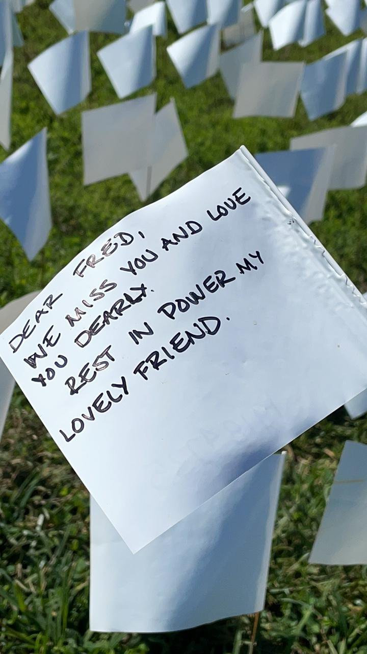 In D.C., 695,000 Flags—and Counting—Memorialize the Americans Who Have Died of Covid-19