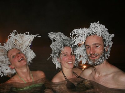 Expect a hair-raising good time at the annual International Hair Freezing Contest.