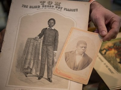 """Thomas """"Blind Tom"""" Wiggins (1849-1908), born blind and enslaved, was a musical prodigy who began performing as early as 6 years old."""