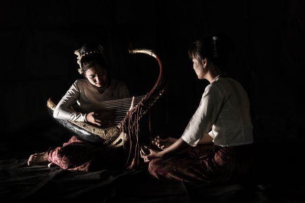 Playing Myanmar traditional instrument thumbnail