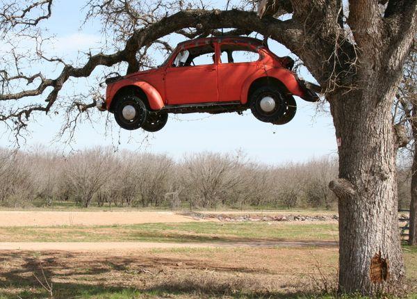 Volkswagon near Jake's Colony, Texas. thumbnail