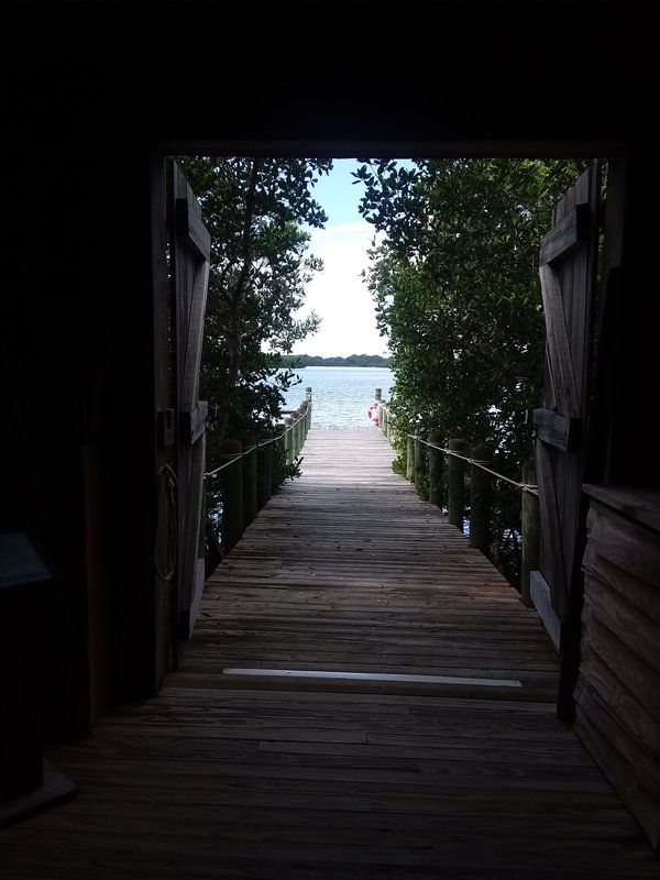 View of a dock from inside the Packing House. thumbnail