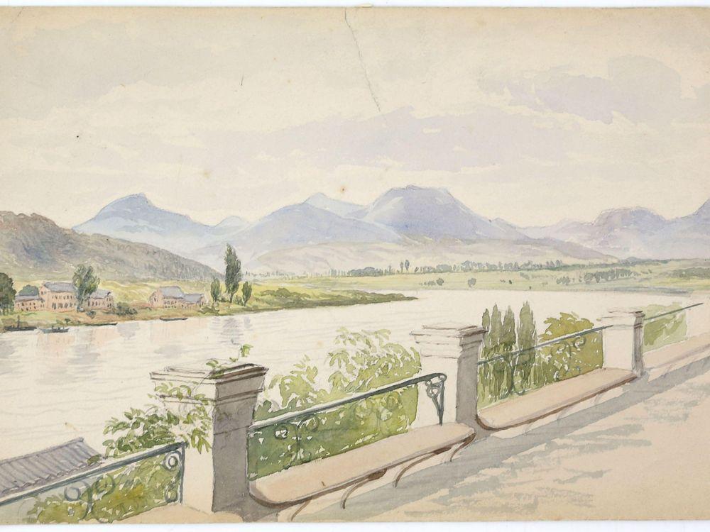 "Josephine Butler, ""The Lieben Geberge, From the Terrace at Bonn"""