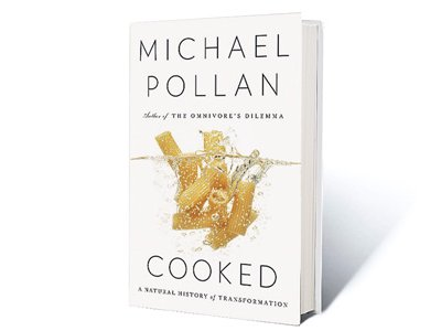 Cooked is a from-the-atom-on-up exploration of the ways in which ingredients are transformed.