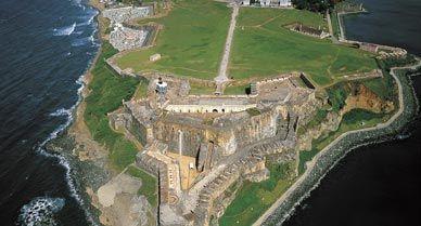 """San Juan's historic 16th-century citadel, Fort de San Felipe del Morro (""""El Morro"""")."""