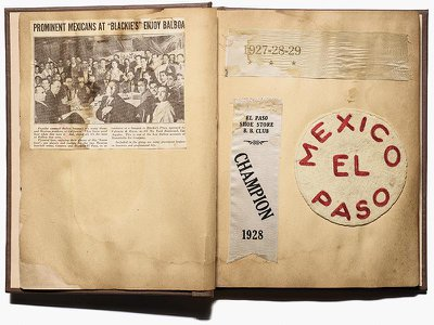 A scrapbook about Alonzo Orozco and David Salazar, semipro players in Los Angeles in the 1920s and '30s.