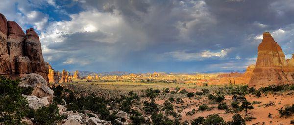 The sun sets on the needles, Canyonlands NP, UT thumbnail