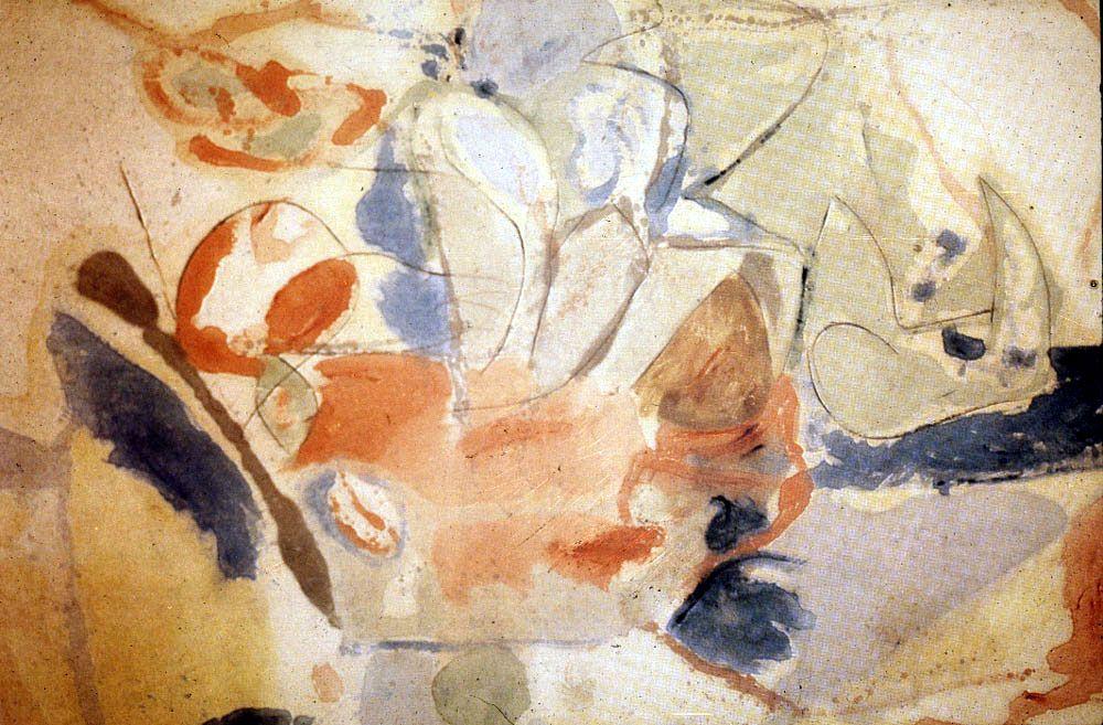 Helen Frankenthaler's Mountains and Sea, 1952