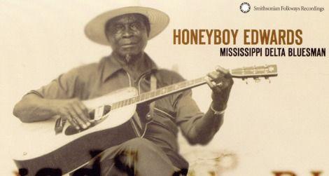 """Honeyboy"" Edwards' album with Smithsonian Folkways, ""Mississippi Delta Bluesman"""