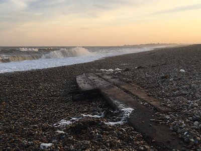 Wreckage uncovered in Thorpeness, along England's Suffolk coast, may belong to an 18th-century collier, or coal-carrying vessel.