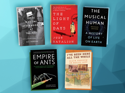 This month's book picks include The Light of Days, The Musical Human and Empire of Ants.
