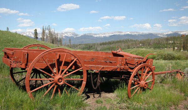 A wagon in Granby, CO thumbnail