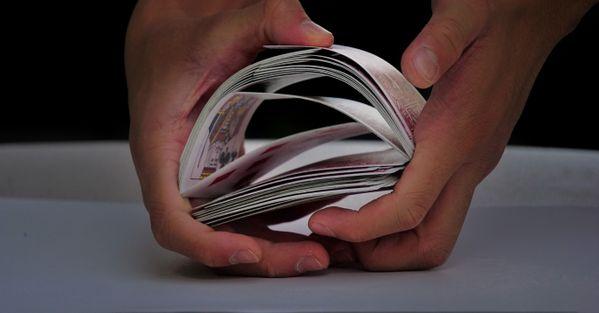 Playing cards shuffle bridge thumbnail