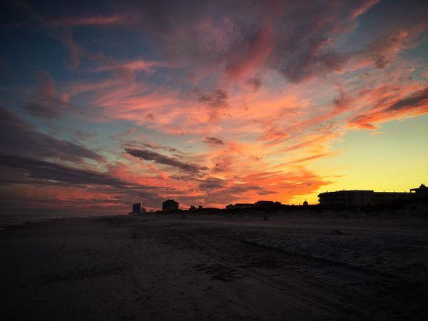 Sun set over the beach in Brigantine, NJ.  thumbnail