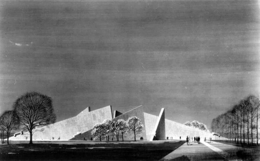 Marcel Breuer's proposed FDR Memorial (image: Marcel Breuer papers, 1920-1986. Archives of American Art, Smithsonian Institution)